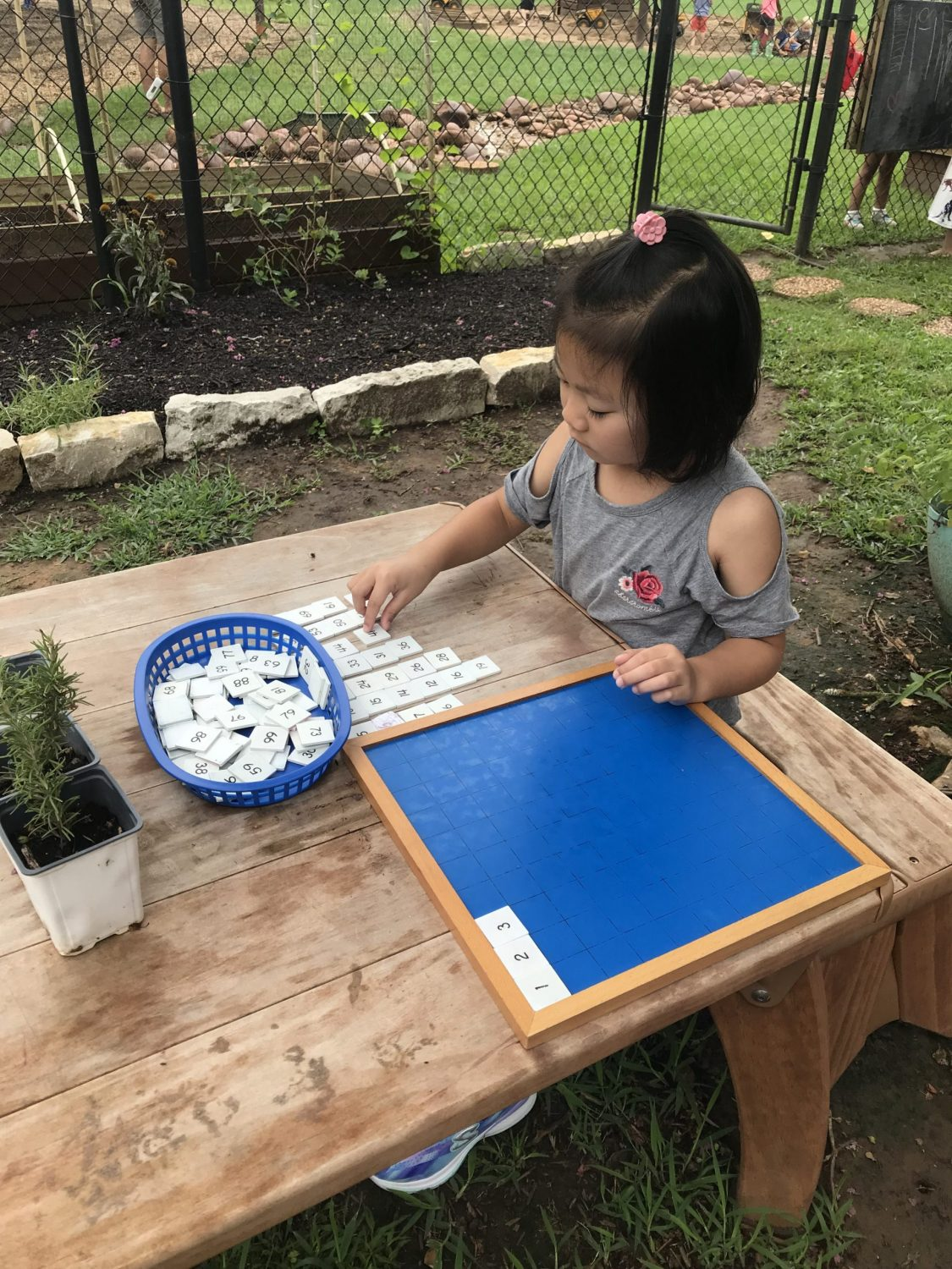 Early Childhood Outdoor Classroom Work, The Montessori Academy of Arlington, Private School Arlington TX