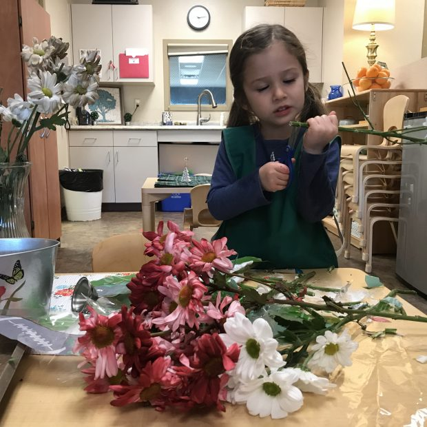 Early Childhood Flower Arranging